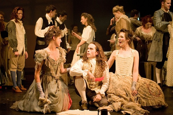 Charmian Bedford, Mark Wright and Belinda Williams in Mister Purcell: his Ground (The Knack)