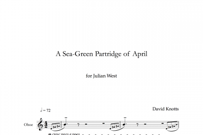 A Sea-Green Partridge of April