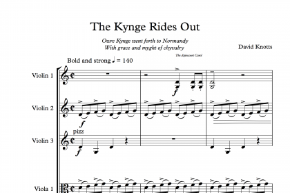 The Kynge Rides Out