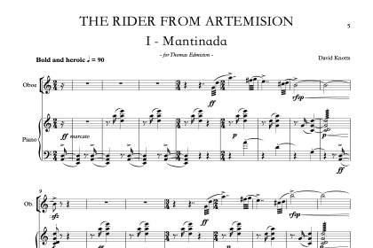 The Rider from Artemision [a concerto for oboe & chamber orchestra]