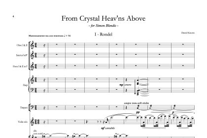 From Crystal Heav'ns Above – for violin and chamber orchestra